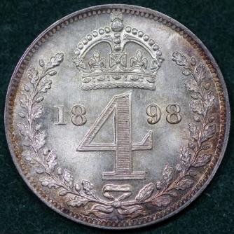 1898 Maundy 4d Victoria Rev Web