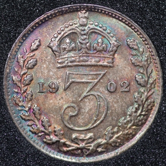 1902 Edward VII Silver Threepence Rev