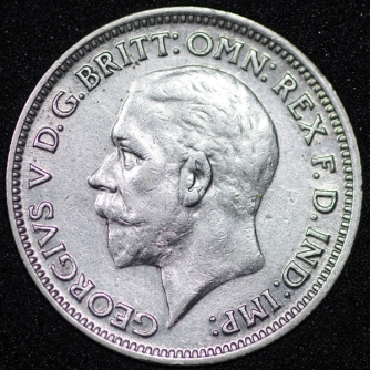 1931 George V Sixpence Obv