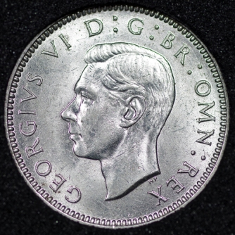 1941 George VI Sixpence Obv