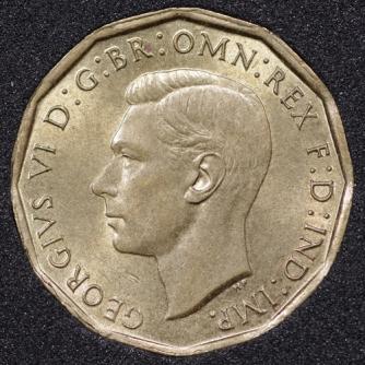 1944 George VI Threepence Obv