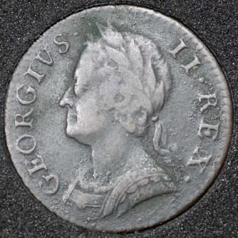 1746 George II Farthing Obv
