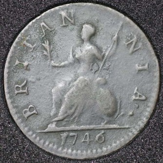 1746 George II Farthing Rev