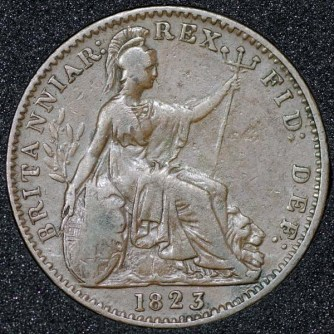 1823 George IV Farthing Rev