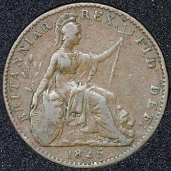 1825 George IV Farthing Rev