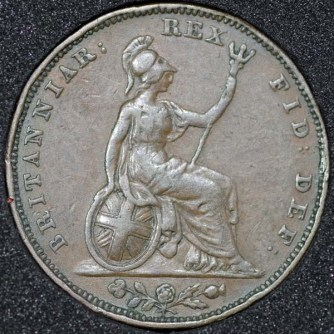 1826 George IV Farthing Rev