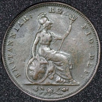 1827 George IV Farthing Rev