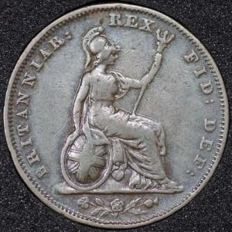 1831 William IV Farthing Rev