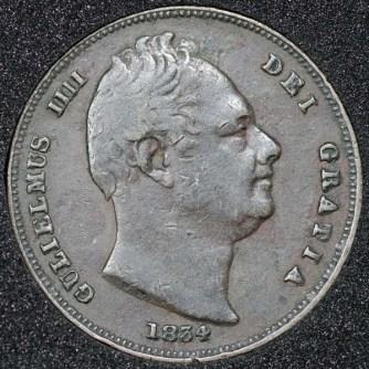 1834 William IV Farthing Obv