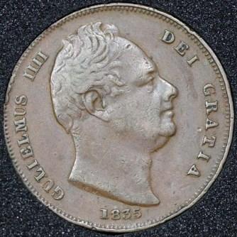 1835 William IV Farthing Obv