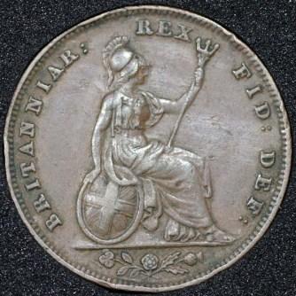 1835 William IV Farthing Rev