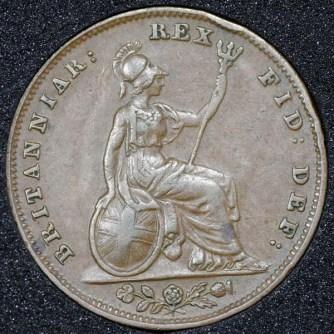 1837 William IV Farthing Rev