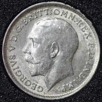 1911 George V Silver Threepence Obv