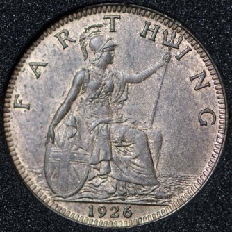 1926 George V Farthing Rev