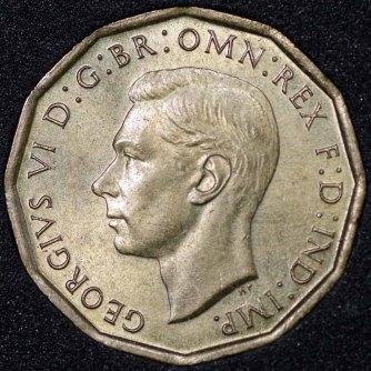 1948 George VI Threepence Obv