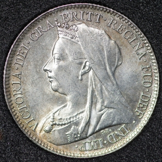 1897 Sixpence Victoria Obv