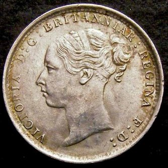 1884 Threepence Obv LC 800