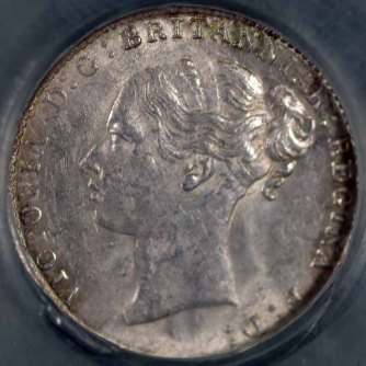 1884 Threepence Obv LC Slabbed 800