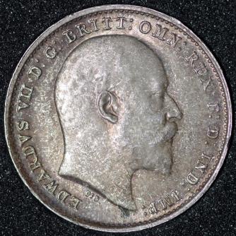 1910 Edward VII Threepence Obv 800