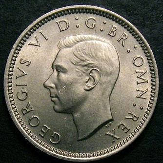 1951 Sixpence CGS 85 Obv
