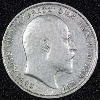 1909 edward vii threepence obv 800