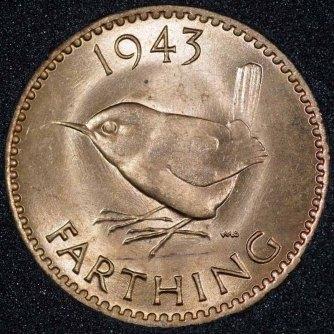 1943 George VI Farthing Rev