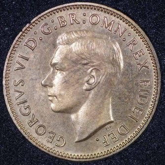 1950 Farthing George VI PROOF Obv Web