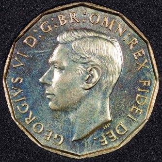1950 George VI PROOF Threepence Obv
