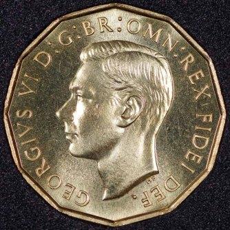 1951 George VI PROOF Threepence Obv