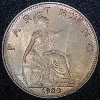 1930 George V Farthing Rev