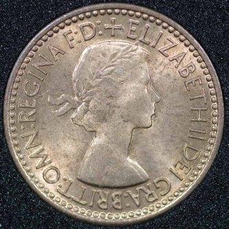 1953 Elizabeth II Farthing 2+B Obv