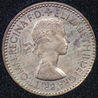 1953 Elizabeth II Farthing PROOF Obv