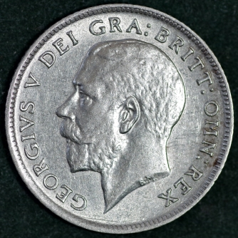 1916 George V Sixpence Obv