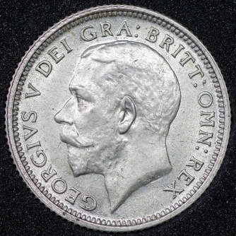 1926 George V Sixpence 1st Issue Obv