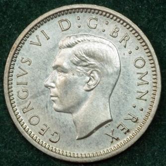 1937 George VI PROOF Threepence Obv