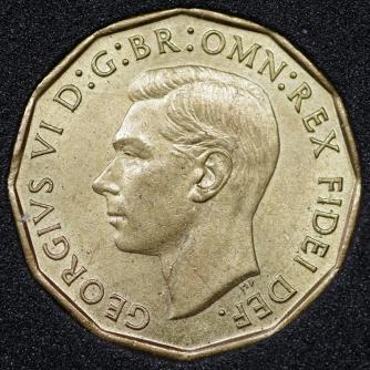 1950 George VI Threepence Obv
