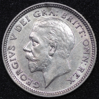 1926 George V Sixpence ME Obv