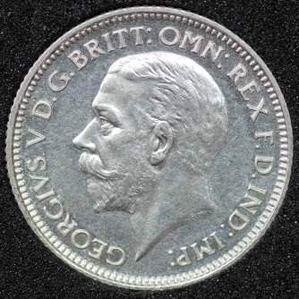 1927 George V PROOF Sixpence Obv