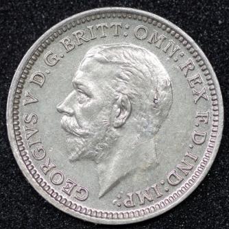 1928 George V Silver Threepence 1 Obv
