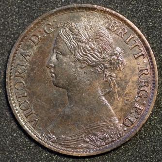 1861 Farthing 2 Obv