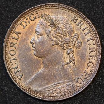 1875 H Farthing Obv
