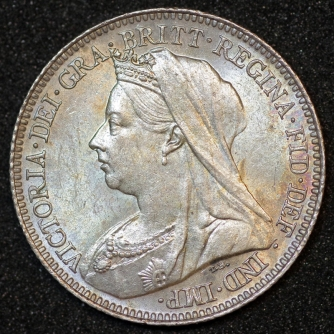 1898 Victoria Sixpence Obv