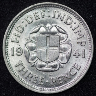1941 George VI Silver Threepence A Rev