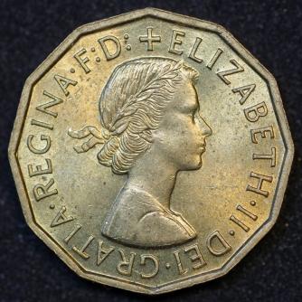 1959 Threepence Brass Obv